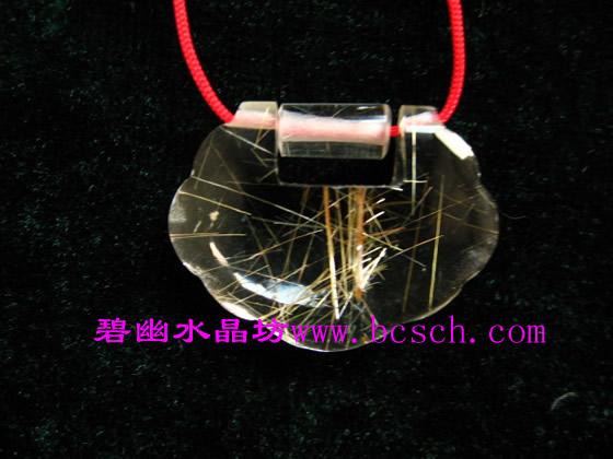 天然钛晶价格_精品钛晶如意锁吊坠佩戴 天然钛晶如意锁挂件价格 天然钛晶长命 ...